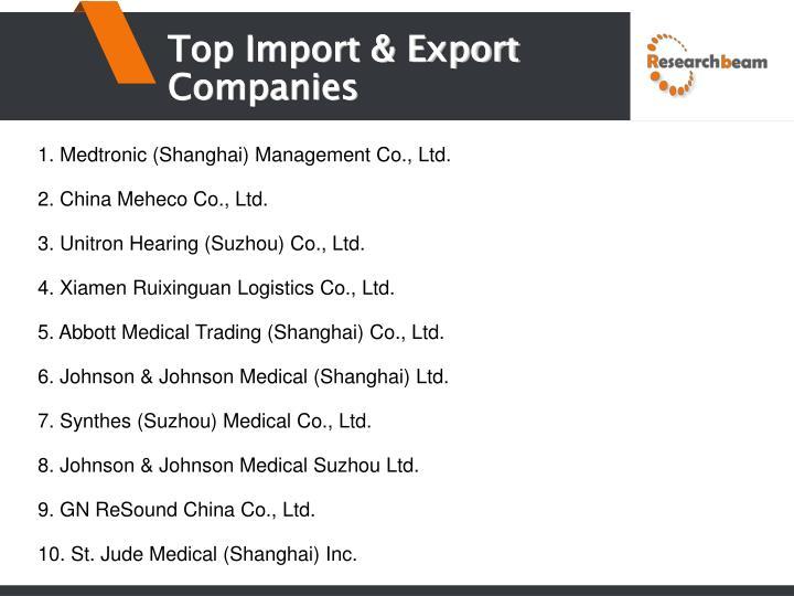 Top Import & Export Companies