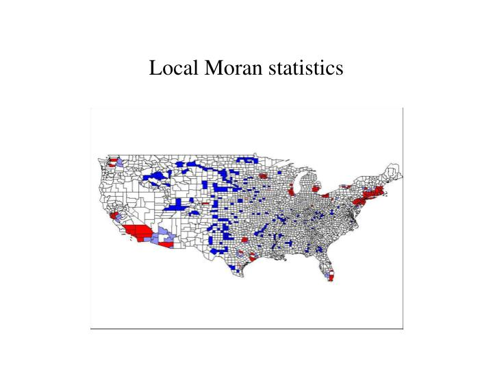 Local Moran statistics