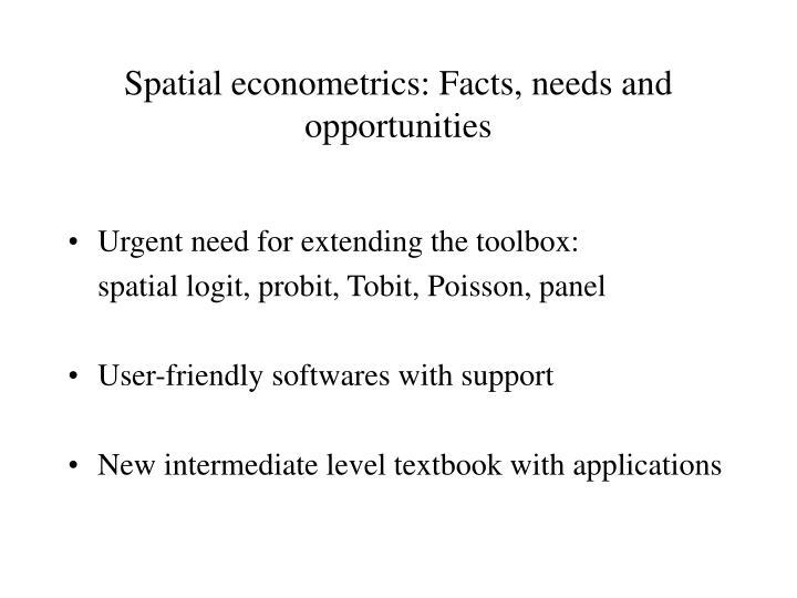 Spatial econometrics: