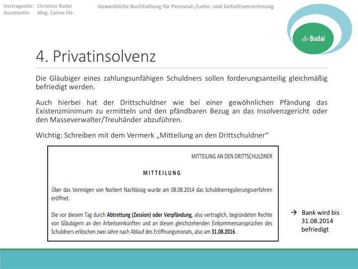 4. Privatinsolvenz