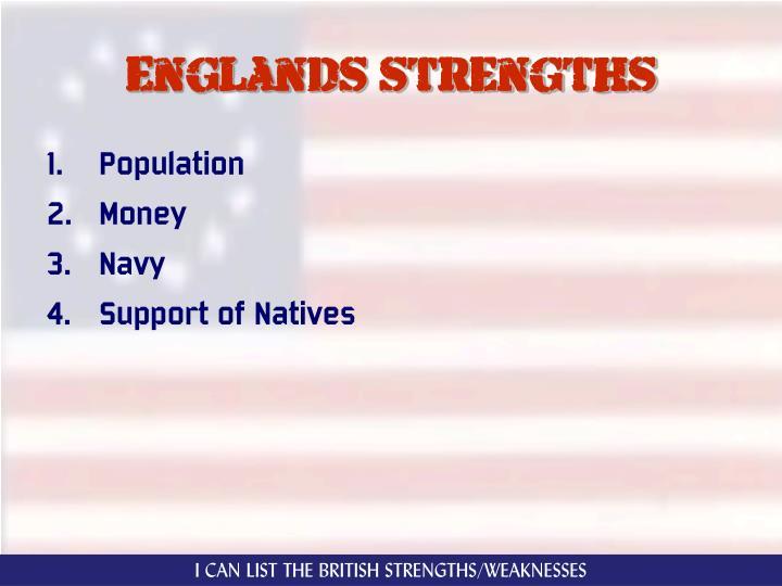 Englands strengths