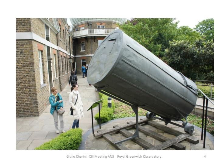 Giulio Cherini   XIII Meeting ANS    Royal Greenwich Observatory