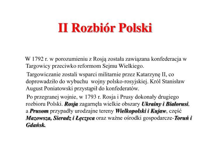 II Rozbiór Polski