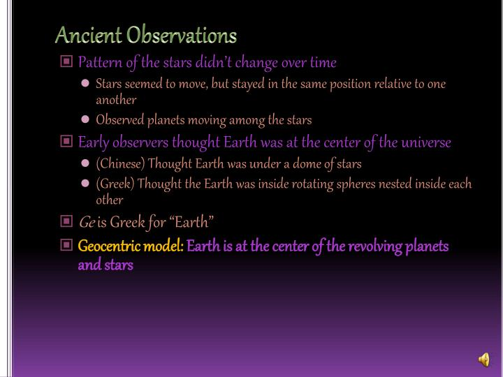 Ancient Observations