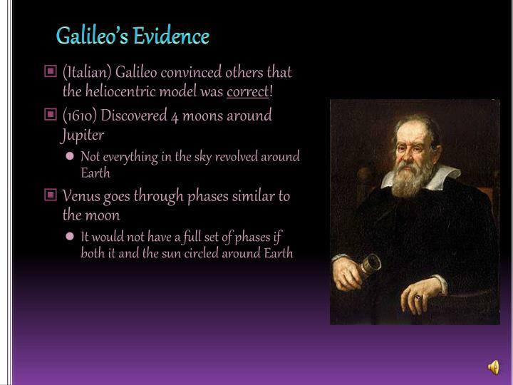 Galileo's Evidence