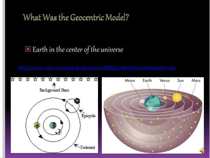 What was the geocentric model