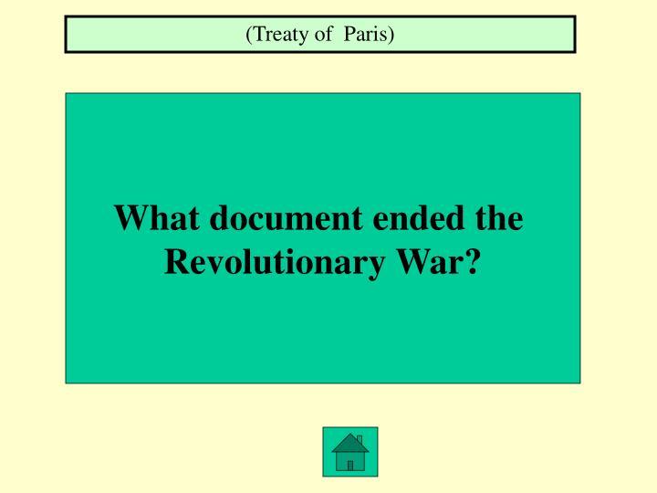 (Treaty of  Paris)