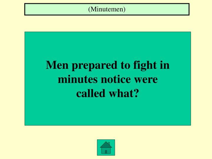 (Minutemen)