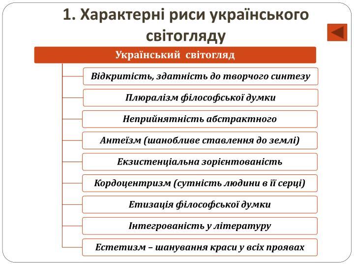 1. Характерні