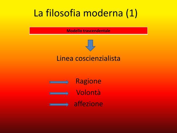 La filosofia moderna (1)