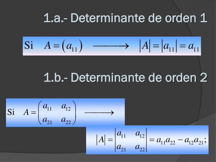 1.a.- Determinante de orden 1