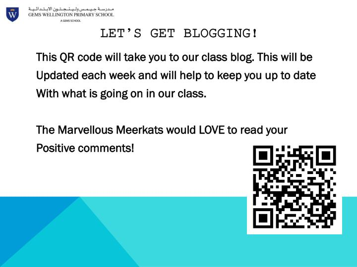 Let's get Blogging!