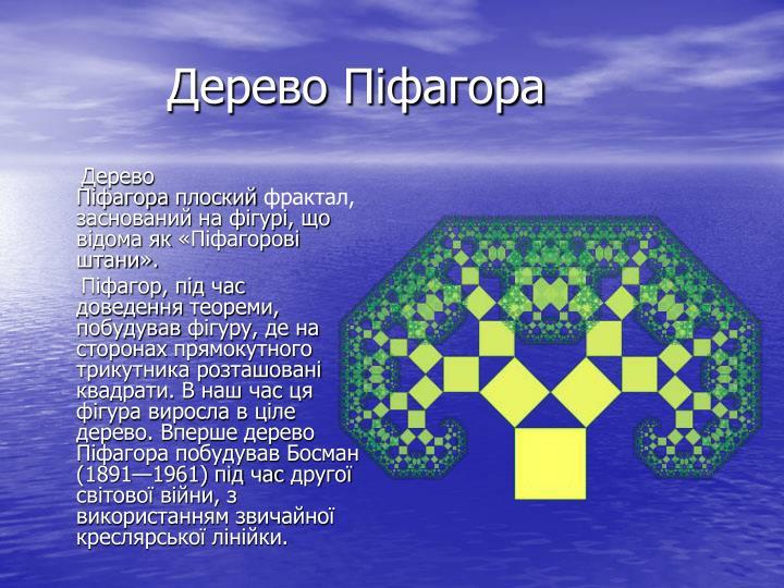 Дерево Піфагора