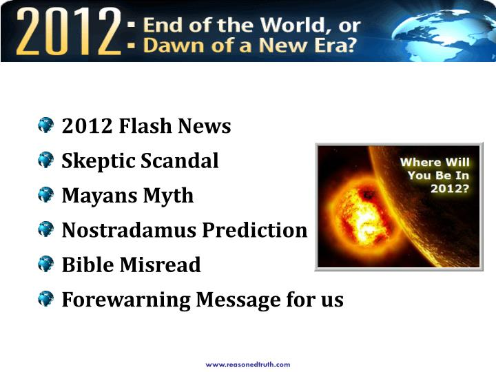 2012 Flash News