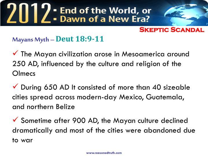 Mayans Myth –