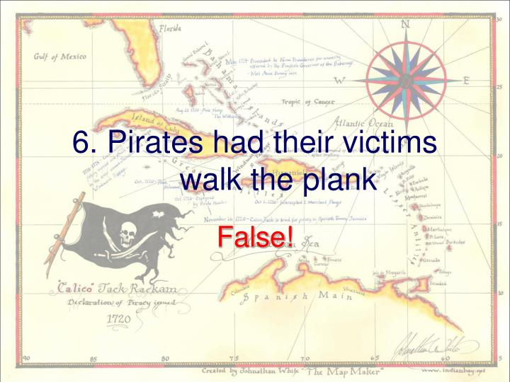 6. Pirates had their victims walk the plank