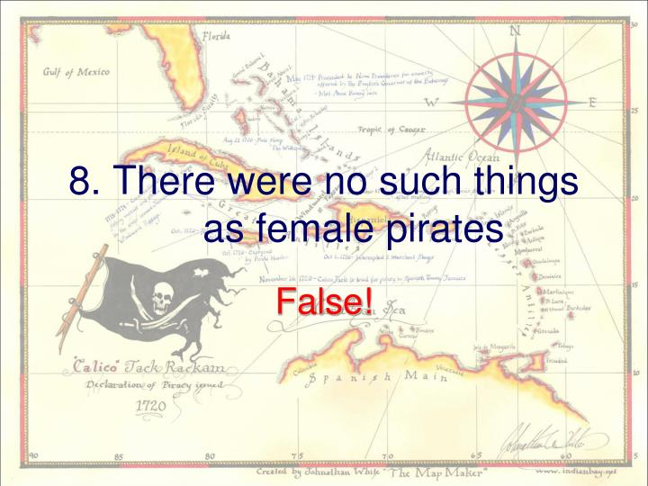 8. There were no such things as female pirates