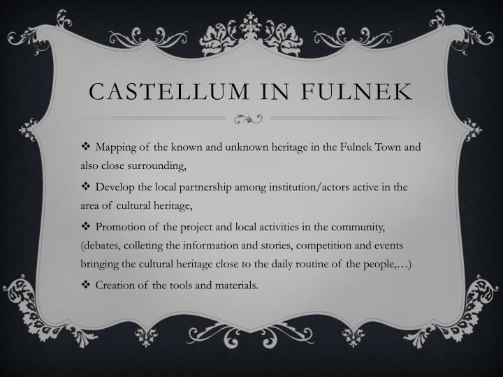CASTELLUM IN FULNEK