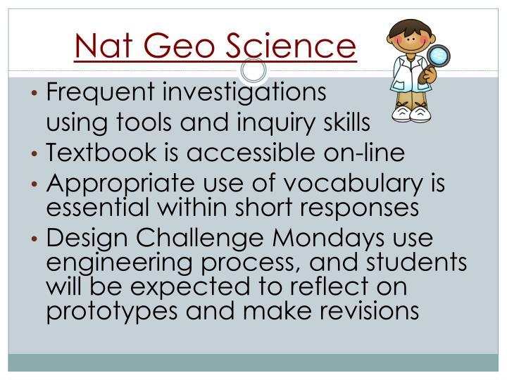 Nat Geo Science