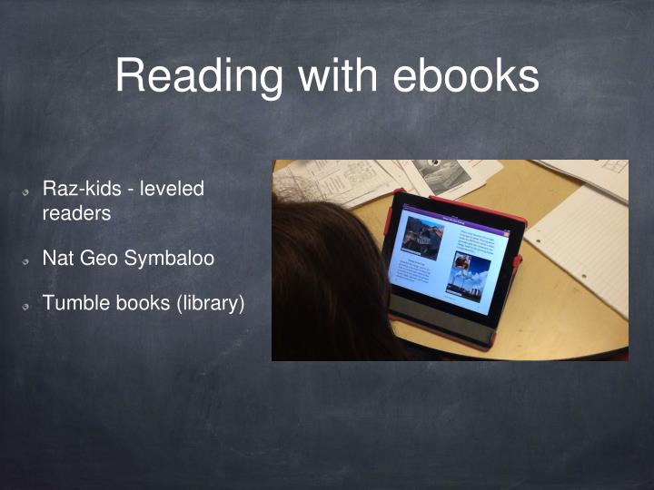 Reading with ebooks
