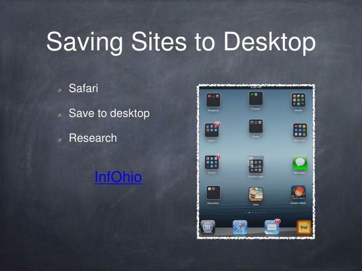 Saving Sites to Desktop