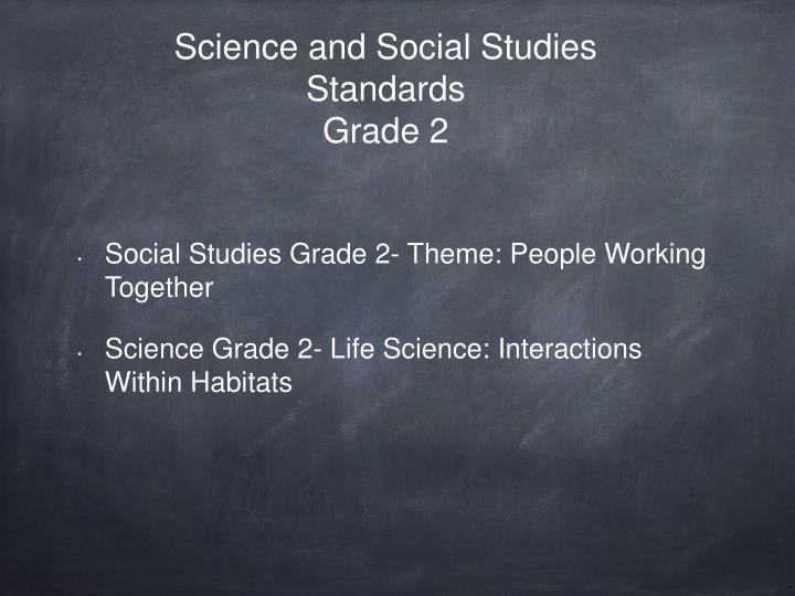 Science and Social Studies Standards