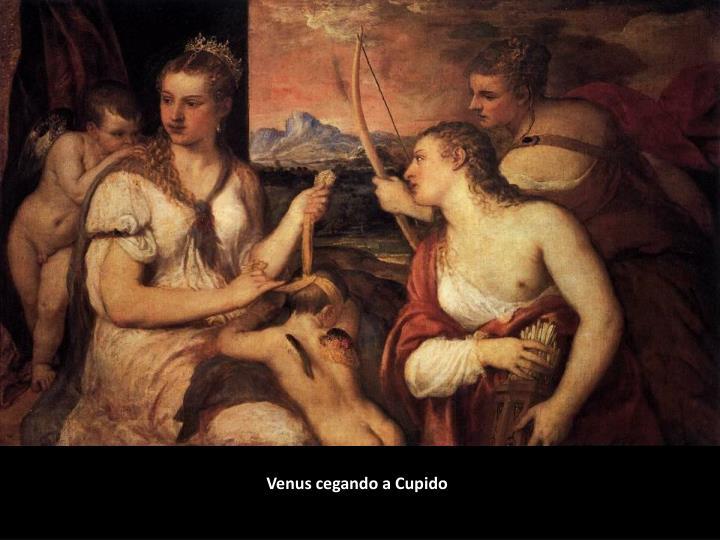 Venus cegando a Cupido