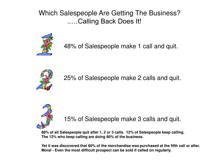 Which Salespeople Are Getting The Business?