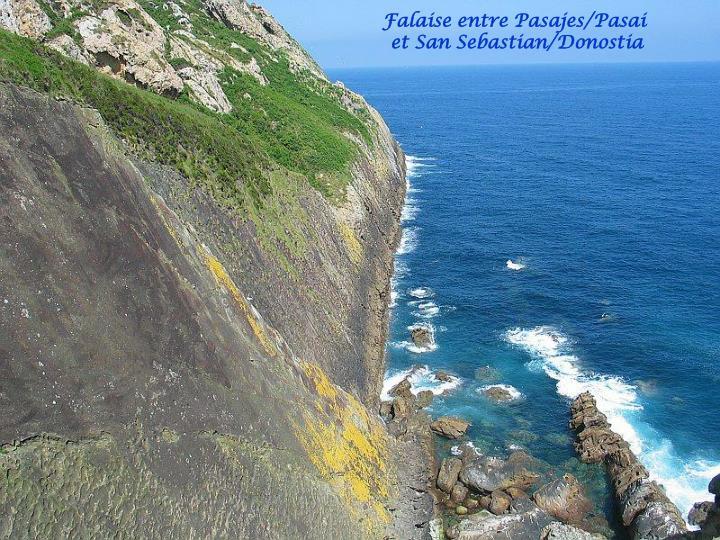 Falaise entre Pasajes/Pasai