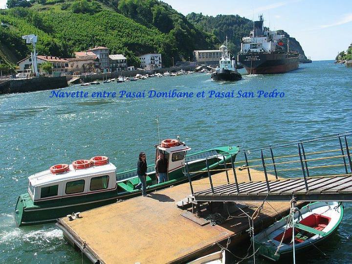 Navette entre Pasai Donibane et Pasai San Pedro