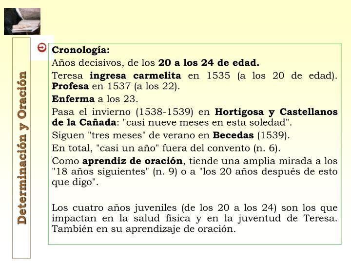 Cronología: