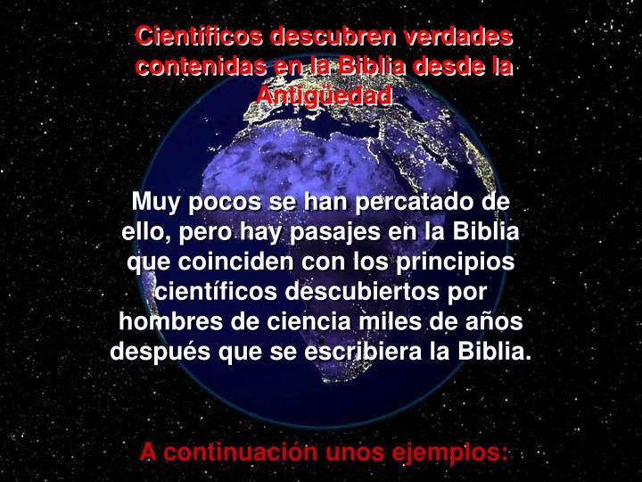 Científicos descubren verdades contenidas en la Biblia desde la Antigüedad