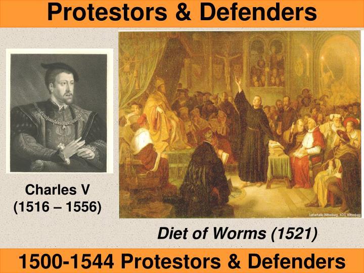 Protestors & Defenders