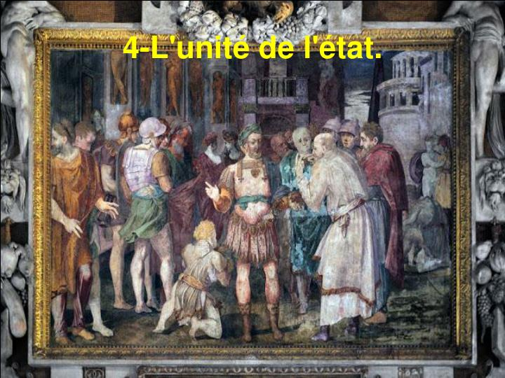 4-L'unité de l'état.