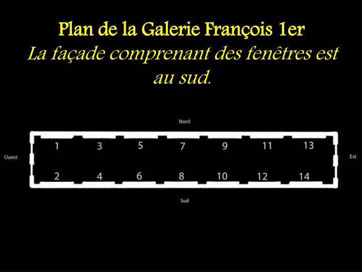 Plan de la Galerie François 1er