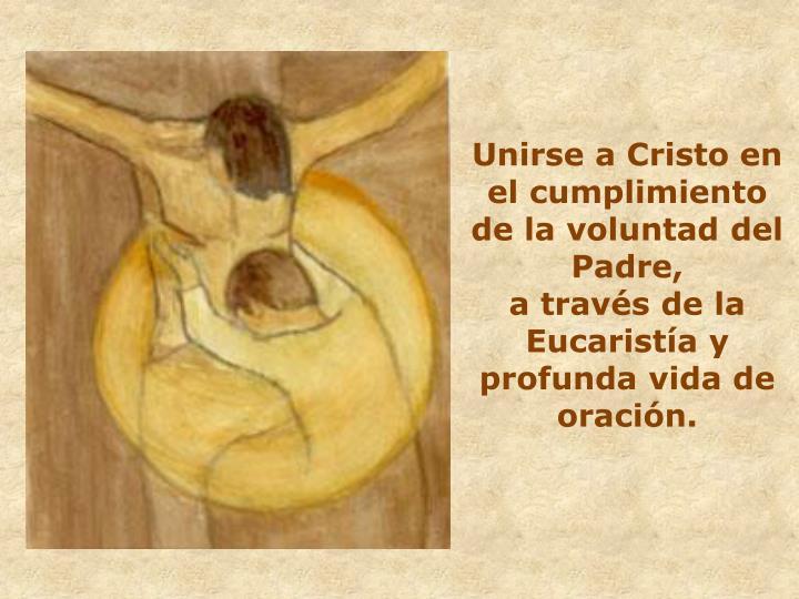 Unirse a Cristo en el cumplimiento de la voluntad del Padre,