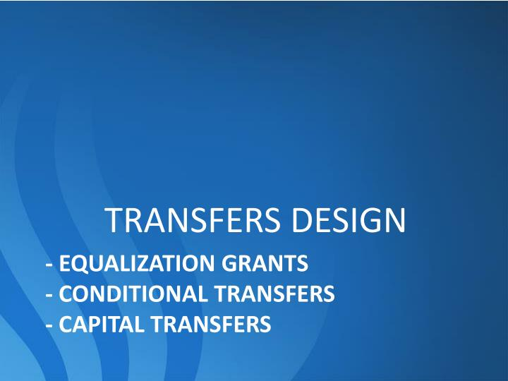 TRANSFERS DESIGN