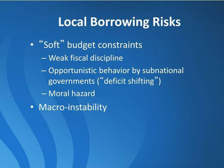 Local Borrowing Risks