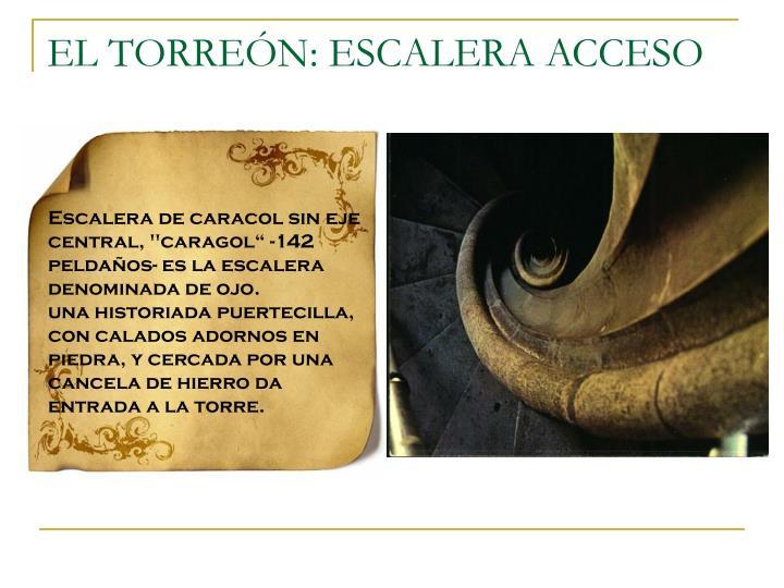 EL TORREÓN: ESCALERA ACCESO