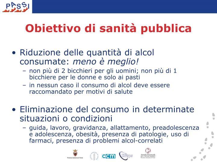 Obiettivo di sanità pubblica