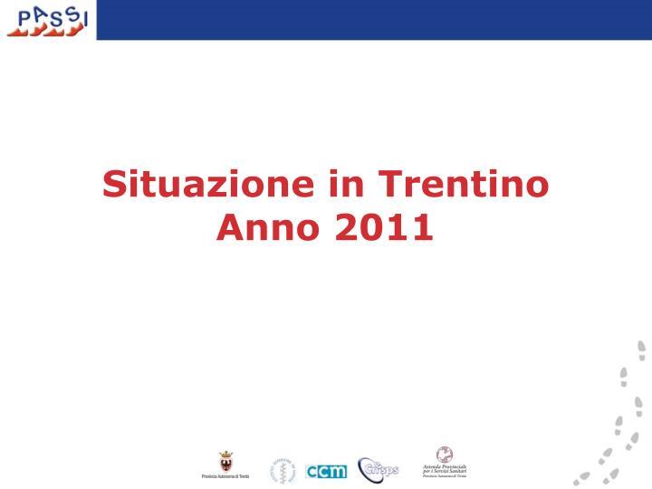 Situazione in Trentino