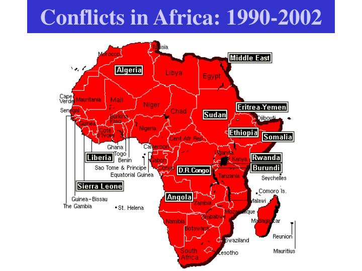 Conflicts in Africa: 1990-2002