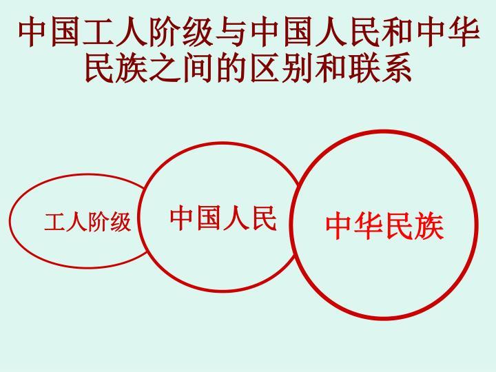 中国工人阶级与中国人民和中华民族之间的区别和联系
