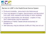 barriers for lgbt in the health social service system