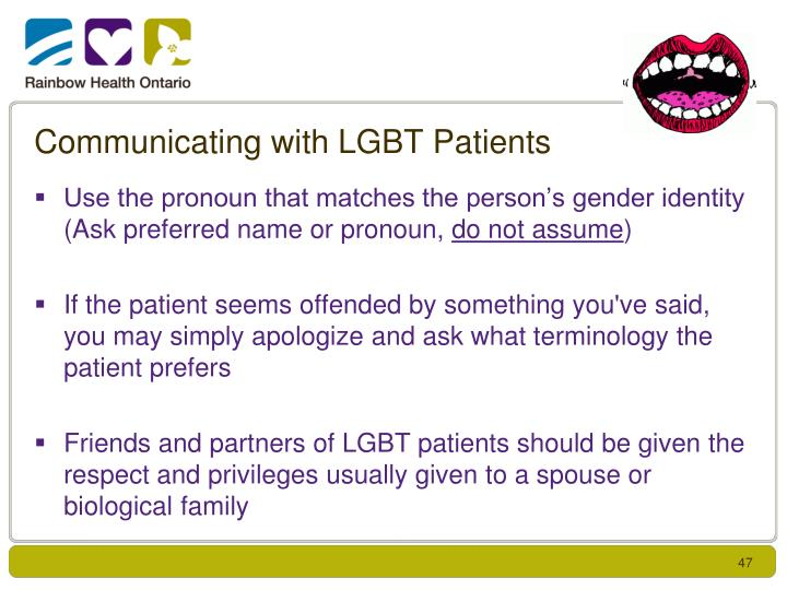 Communicating with LGBT Patients