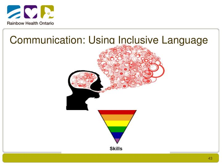 Communication: Using Inclusive Language