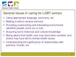 general issues in caring for lgbt seniors