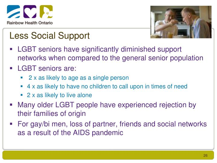 Less Social Support