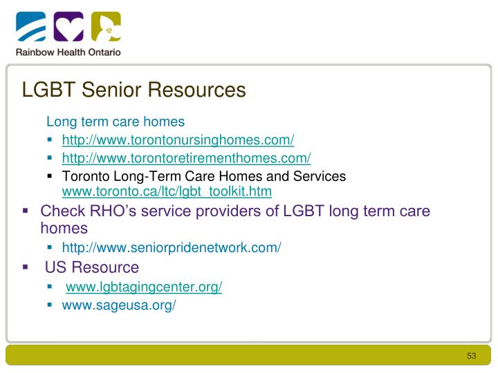 LGBT Senior Resources