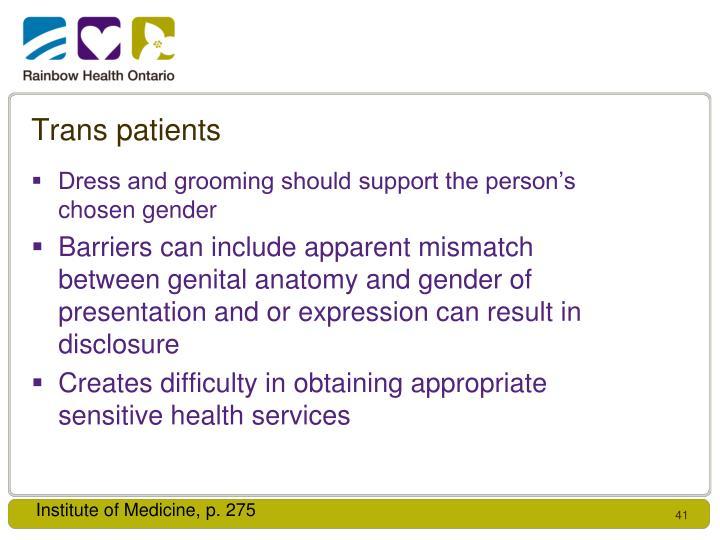 Trans patients